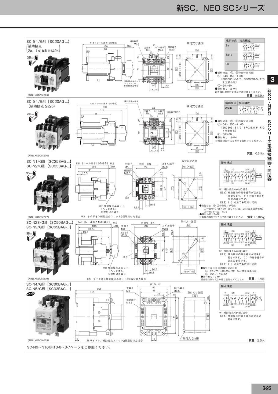 電磁開閉器総合カタログ|富士電機機器制御(株)|FUJIELECTRIC ...